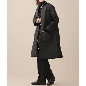 TRADITIONAL WEATHERWEAR/別注キルティングAラインロングコート ブラック