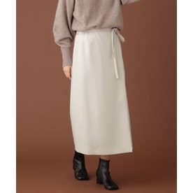ウーリッシュラップスカート アイボリー7