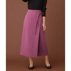 ウーリッシュラップスカート ピンク
