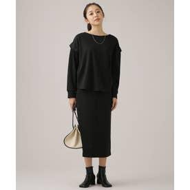WEB限定/サカリバカットセットアップ 長袖 ブラック