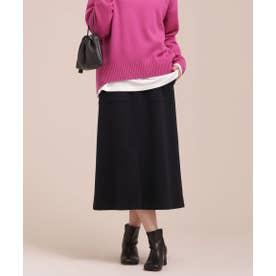 ECOMEL ポケットAラインスカート ネイビー