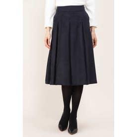 エルモザスエードボックスプリーツスカート ネイビー