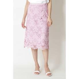 ◆キカフラワーレーススカート ピンク