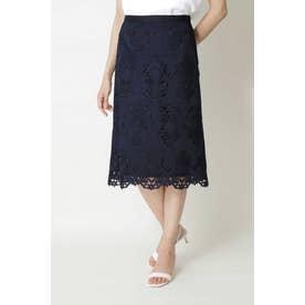 ◆キカフラワーレーススカート ネイビー