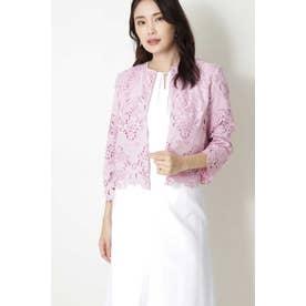 ◆キカフラワーレースジャケット ピンク