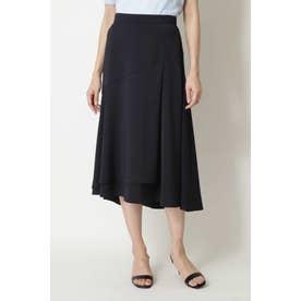 ◆ストレッチサテンスカート ネイビー