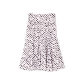 ◆ジオメトリックプリントスカート ピンク