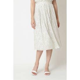 ◆アニマルドットプリントスカート ホワイト