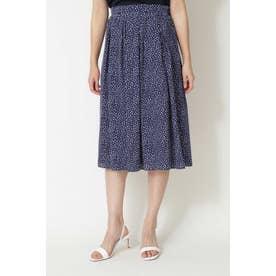 ◆アニマルドットプリントスカート ネイビー