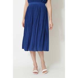 ◆Jスラブ天竺プリーツスカート ブルー