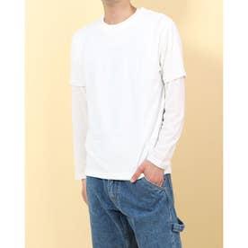 ナノ ユニバース アウトレット アンサンブルTシャツ LS (ホワイト)