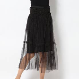 ナノ ユニバース アウトレット チュールレイヤードスカート (パターン1)
