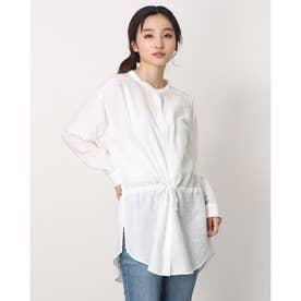 ミドルタケウエストドロストシャツ オフホワイト1