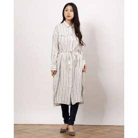 リネン100ポケットシャツワンピース パターン1
