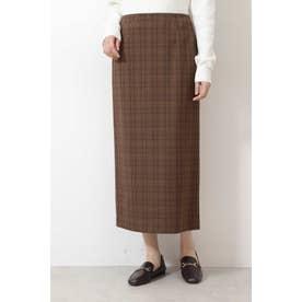 |CanCam 11月号掲載|[洗える]ウールライクナロースカート ブラウンベースチェック2