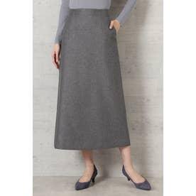 ライトツイードAラインスカート チャコール1