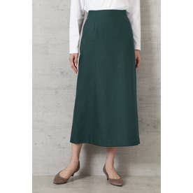 ライトツイードAラインスカート グリーン