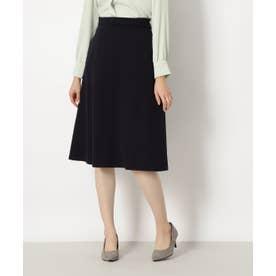 [洗える]ピケAラインスカート ネイビー