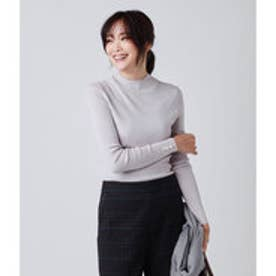 【Days Knit】総針ハイネックプルオーバー (ライトグレー)