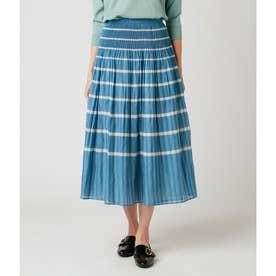 シャーリングパネル リバーシブルスカート (ライトグリーン)
