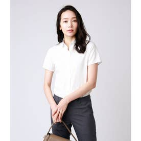 ドビーストライプ半袖シャツ(スーツインナー対応) (ホワイト)