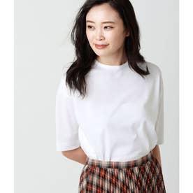 コットントリアセテート 秋色5分袖Tシャツ (ホワイト)