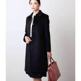 My Dearest Coat/ウールシルクアンゴラビーバー ステンカラー コート (ブラック)