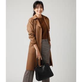 リバートレンチ風衿付きコート(コーディガン) (キャメル)