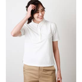 リネンライク鹿の子ポロシャツ (ホワイト)