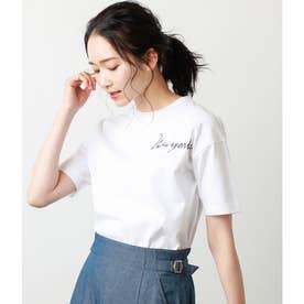 天竺ロゴプリントTシャツ (ホワイト)