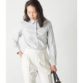 グラデーションドビーストライプ レギュラーカラーシャツ (サックス)