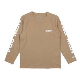 ジュニア 長袖Tシャツ YOUTH LS COTTON TEE NECC BEG W 12855294 (他)