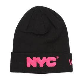NEW ERA/ビーニー ニット帽 12864443 (ブラック×ピンク)