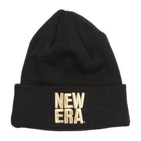 NEW ERA/ビーニー ニット帽 12854517 (ブラック×ゴールド)