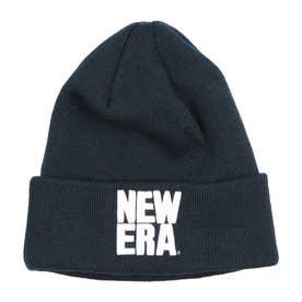NEW ERA/ビーニー ニット帽 12540524 (ネイビー×ホワイト)