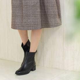 ショートブーツ/4465大きいサイズ (ブラック)