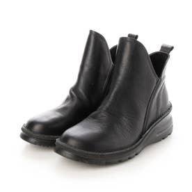 4E設計ショートブーツ/4455大きいサイズ&小さいサイズ (ブラック)