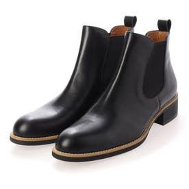 サイドゴアショートブーツ/4356大きいサイズ&小さいサイズ (ブラック)