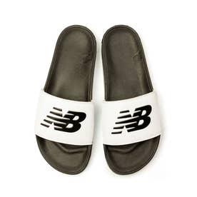 SMF200 メンズ レディース サンダル シャワーサンダル シャワサン スポーツサンダル スポサン (ホワイト/ブラック(F1))