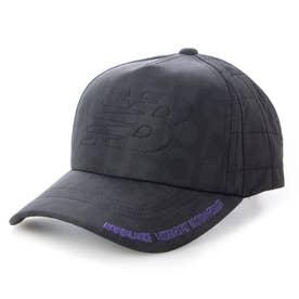 ジュニア ゴルフ キャップ タイポグラフィプリント シックスパネルキャップ 0121287003 (ブラック)