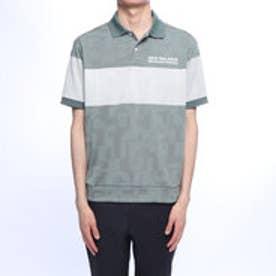 メンズ ゴルフ 半袖シャツ タイポモンタージュ3Dジャカートポロシャツ 0129160005