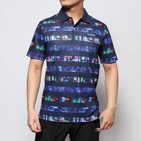 メンズ ゴルフ 半袖シャツ トーキョーナイトボーダープリントポロシャツ 0120160005
