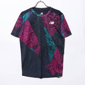 メンズ 陸上/ランニング 半袖Tシャツ NBRC グラフィックショートスリーブ Tシャツ AMT03223 AMT03223 (パープル)