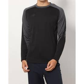 メンズ サッカー/フットサル 長袖シャツ ロングスリーブTシャツ_ JMTF1157 (ブラック)