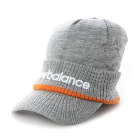 メンズ ゴルフ ニット帽子 BIGロゴジャカード ブリムビーニー 0121287006 (グレー)