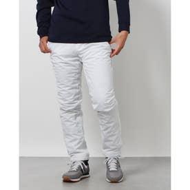 メンズ ゴルフ ウインドパンツ 2レイヤー 中綿テーパードパンツ 0121231012 (ホワイト)
