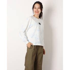 レディース 長袖機能Tシャツ タイダイ ロングスリーブ Tシャツ_ WT13526 (ホワイト)