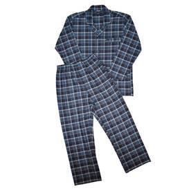 ツイルテーラードパジャマ (サックス)