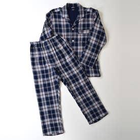 長袖テーラードパジャマ (マルチ)