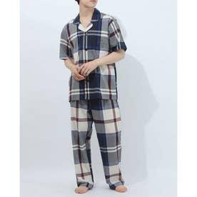 半袖テーラードパジャマ (マルチ)